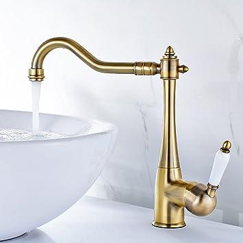 Gimili Armaturen Retro Waschbecken Wasserhahn Bad Mischbatterie