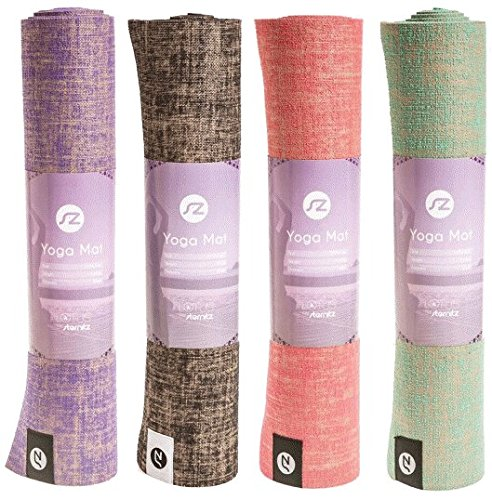 Jute Yoga Mat by Sternitz (purple)