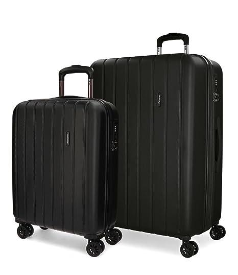 Wood Set de bagages, 65 cm, 111 liters, Gris