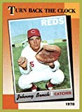 1990 Topps #664 Johnny Bench TURN BACK THE CLOCK 1970 HOF CATCHER CINCINNATI REDS