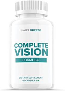 Complete Vision Formula Eye Support Supplement Pills Men and Women (60 Capsules)