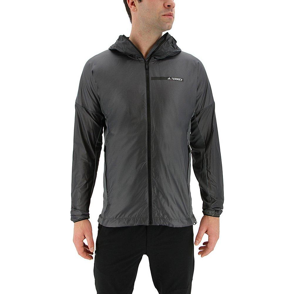 adidas outdoor Mens Agravic Alpha Shield Hoodie (L - Grey Five)
