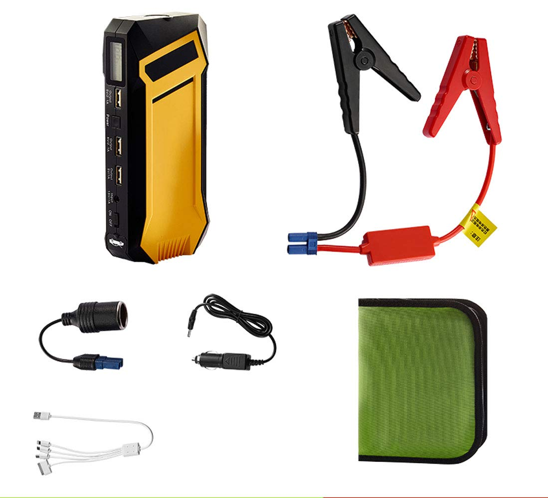 12000mAh Bater/ía para autom/óvil Arrancador de salto Generador de energ/ía port/átil Estaci/ón de energ/ía Inversor de energ/ía Bater/ía recargable Fuente de alimentaci/ón de emergencia Potenciador aut