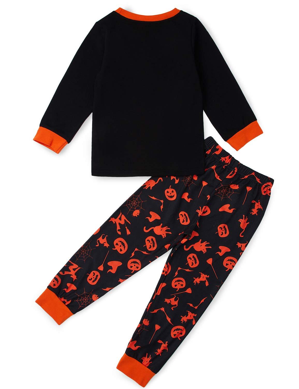 TUONROAD Pijama para niños Pijamas de delfín Ropa de Dormir de Manga Larga 2 Piezas Ropa de algodón para niños Tops Camisas y Pantalones Outfit