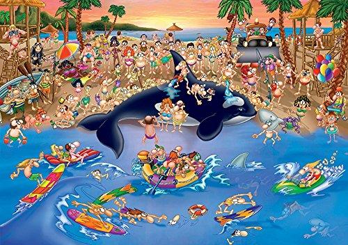 D-Toys Cartoon Collection - Seaside Antics Jigsaw Puzzle, - Cartoon Jigsaw Puzzles