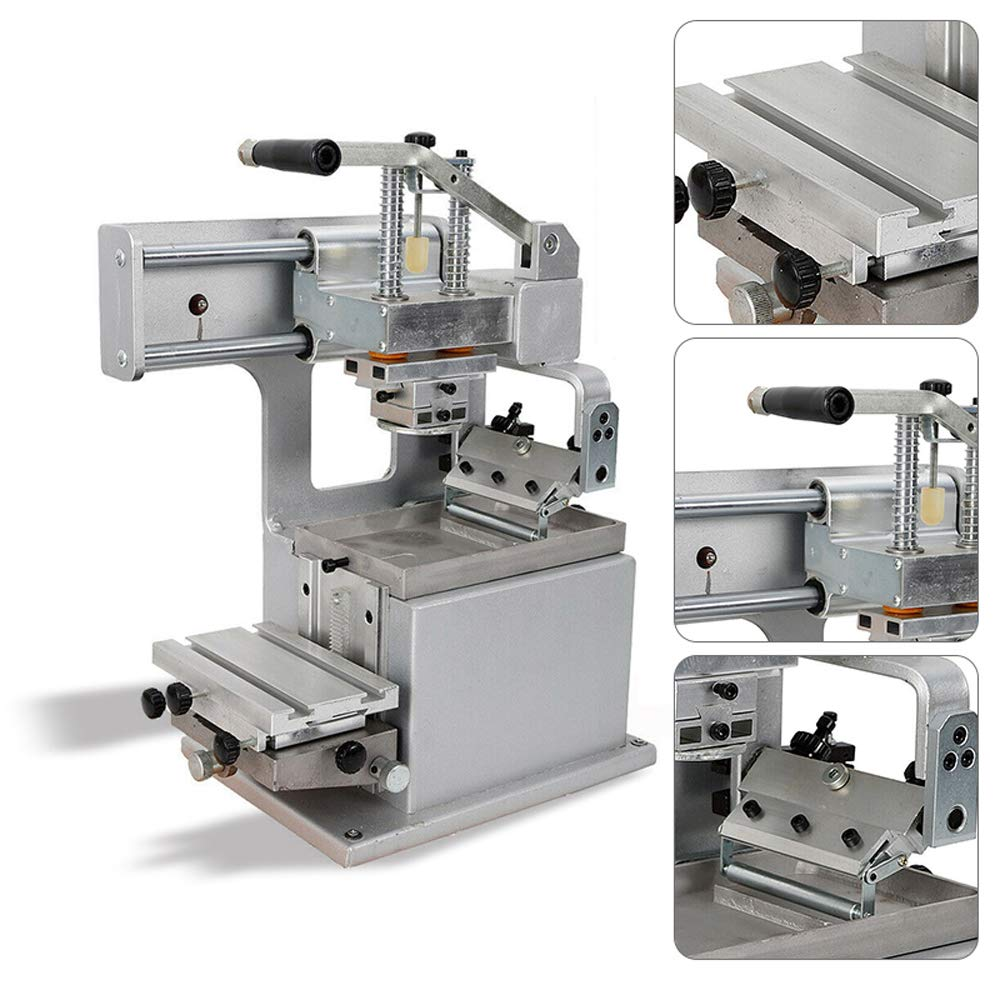 Manual Pad Printing Machine Kit Pad Printer Sealed Ink Cup System,Horizontal Stroke 150 mm, Vertical Stroke of Rubber Head 60mm by Fencia