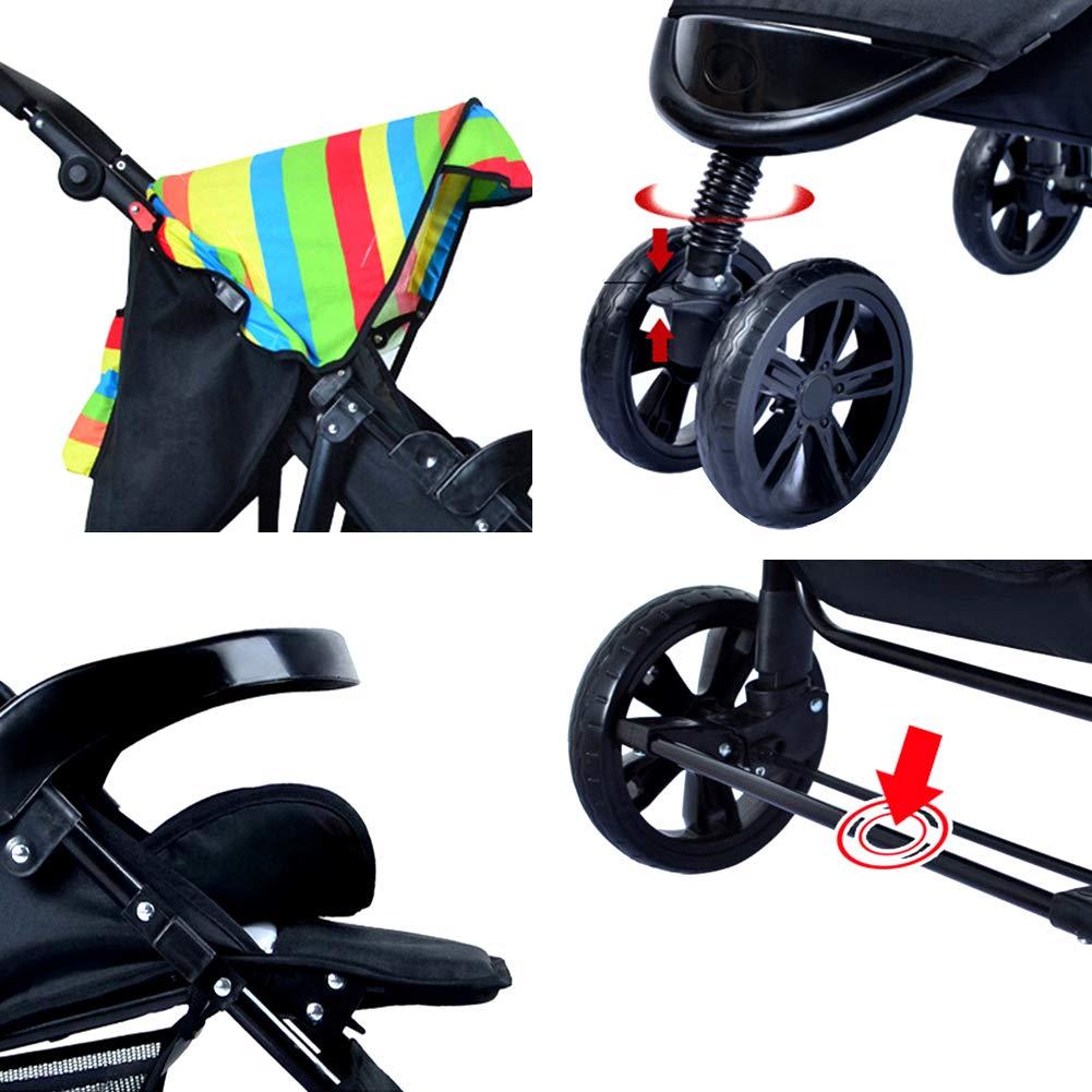 Kinderwagen Kombikinderwagen Zwillinge Abnehmbar Falten Flach Sitzen Babywagen05