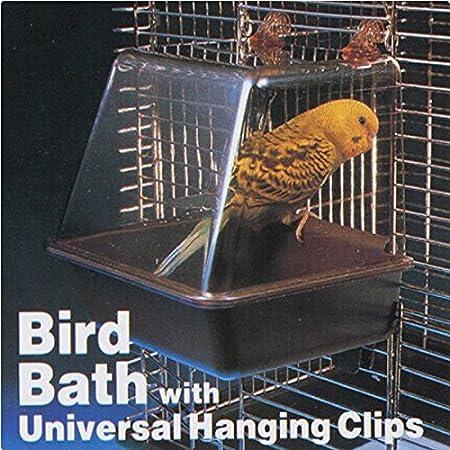 Rosa Lagarto Deluxe de pájaro bañera baño caja accesorio jaula ...