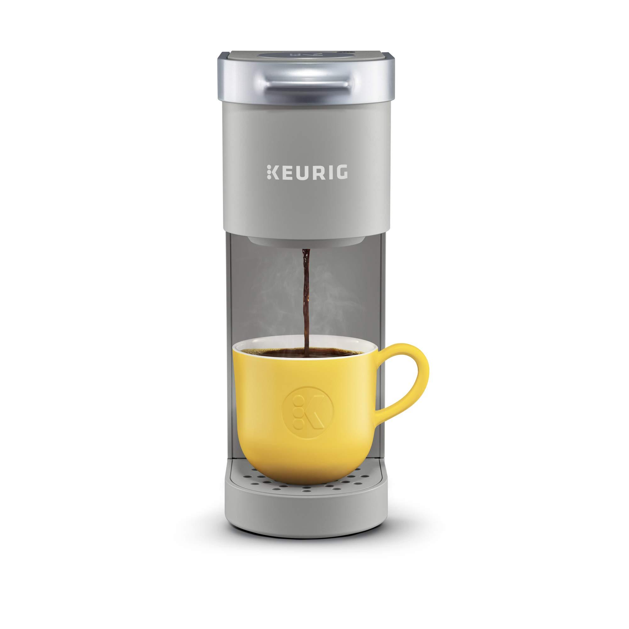 Keurig K-Mini Coffee Maker, Single Serve K-Cup Pod Coffee Brewer, 6 to 12 oz. Brew Sizes, Studio Gray by Keurig