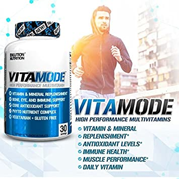 Evlution Nutrition Mens Multivitamin, VitaMode, Daily Vitamin Support 30 Servings