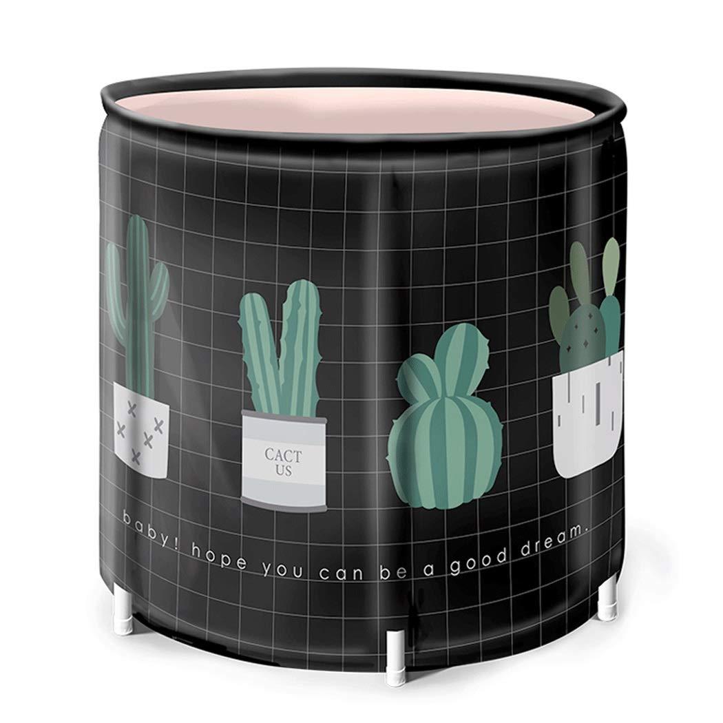 YONGYONG Household Body Bath Bucket Folding Tub Thickening Bath Barrel 65CM*70CM (Color : C, Size : 65CM*70CM)