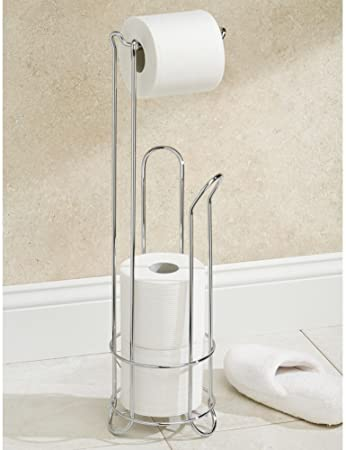 Chrome Toilet Paper Dispenser and Reserve with Storage Shelf