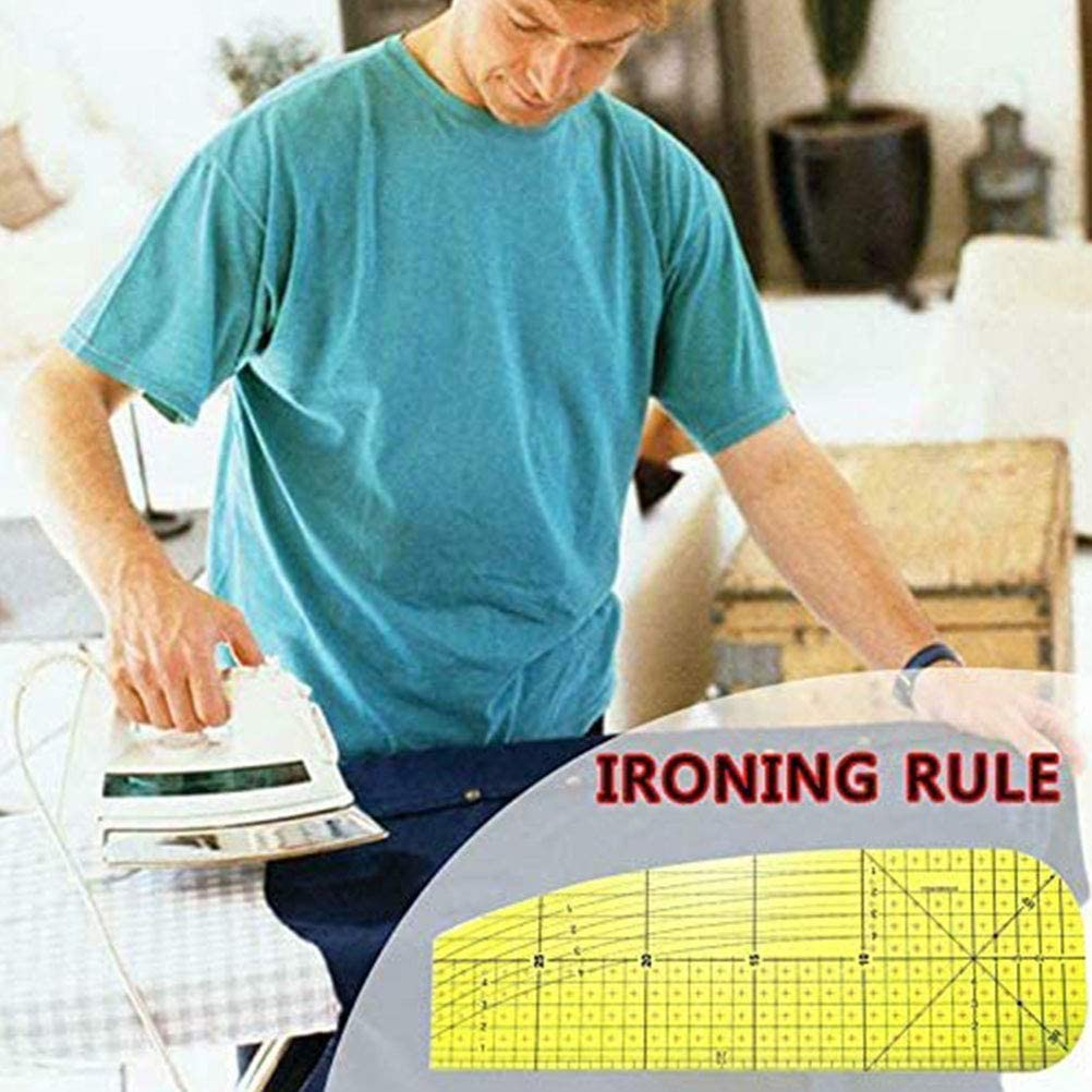 Regla de Planchar Patchwork Regla de Costura Herramienta de medici/ón de Tela Suministros de Costura DIY NIVNI Regla