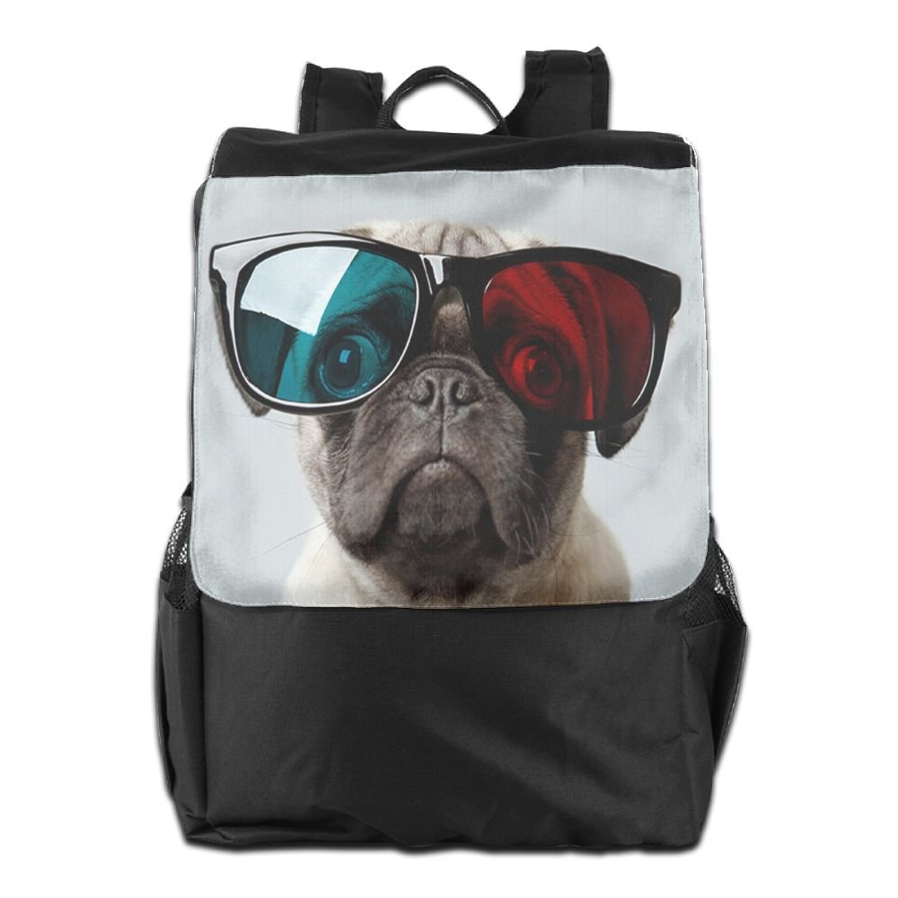 Newfood Ss The Dog Has 3D Glasses Outdoor Travel Backpack Bag For Men And Women