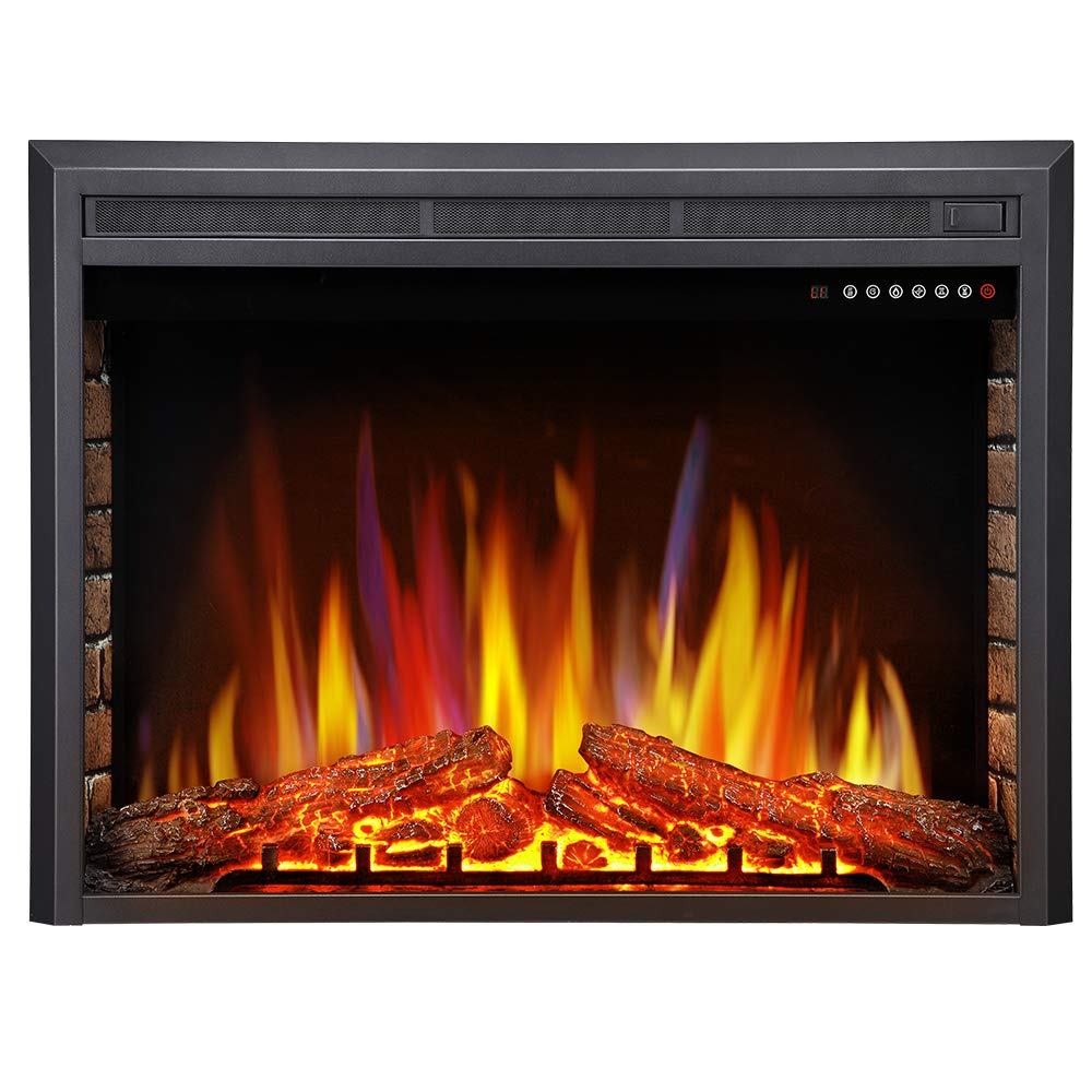 Antarctic Star 36 Electric Fireplace Insert, Freestanding Recessed Electric Stove Heater, LED Adjustable Flame with Burning Fireplace Logs Touch Screen, Remote Control, Timer, 750W-1500W.