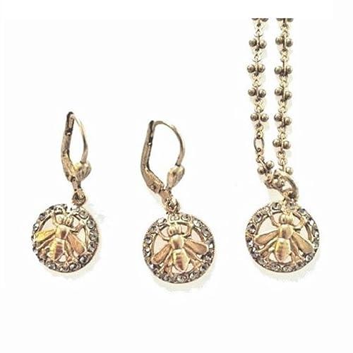 53fc0cf372859 Amazon.com: Catherine Popesco Gold Swarovski Crystal QUEEN BEE ...