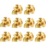 Wood Grip Wood Deck Brass Anchor for Pool Safety Cover - 10 Pack