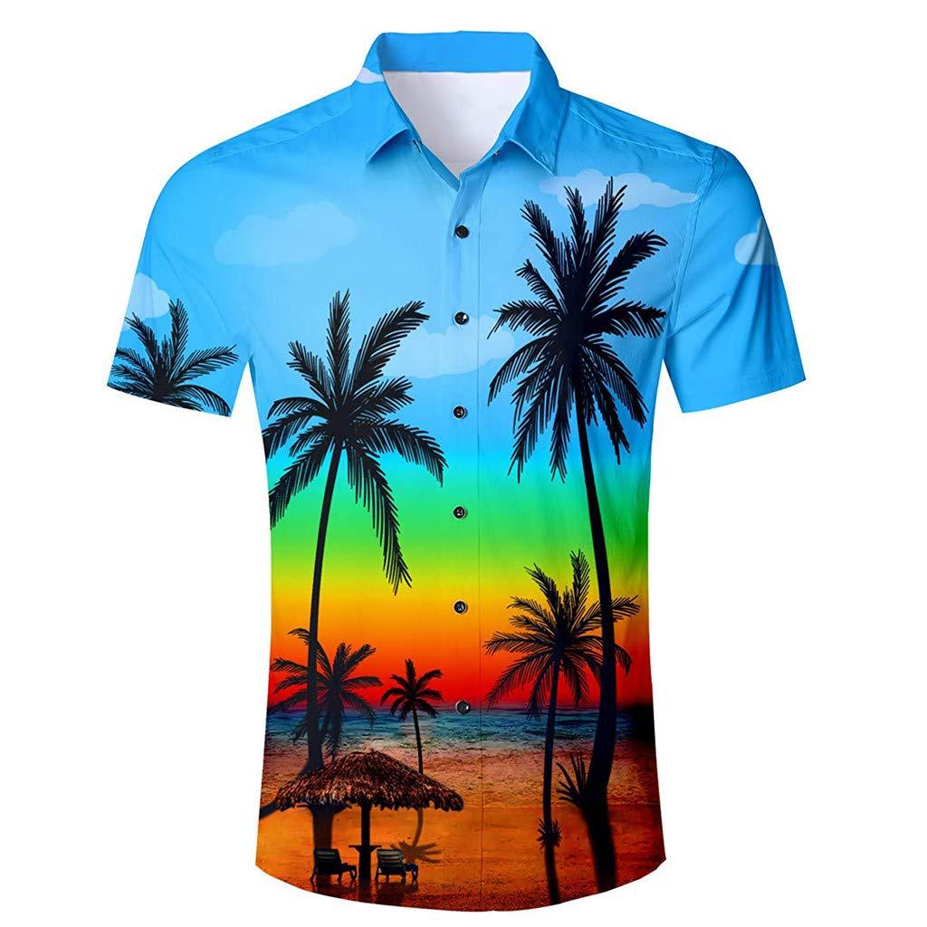 Camisa hawaiana de manga corta para hombre con estampado 3D y ...