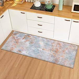 Modern Kitchen Mat Home Doormat Carpet for Living Room HallwayDecoration Floor Anti-Slip Mats Bedroom Entrance Door Bath Rug A7 40cmx60cm
