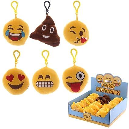 Llavero Emoji sonriente Smiley Cojín 5 cm, 1: Amazon.es: Hogar