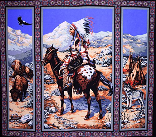 Native American Panel Native Spirit Fabric by the Panel -