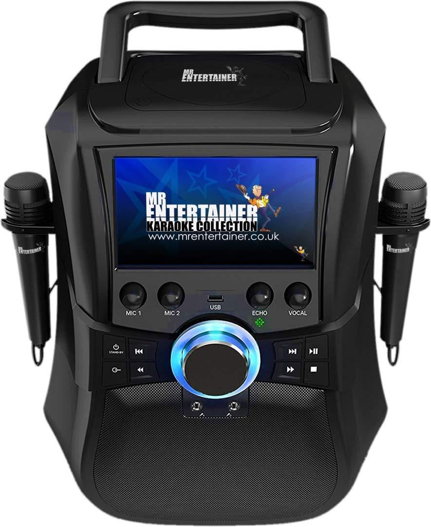 Mr Entertainer Megabox Portable Bluetooth Karaoke Machine with Screen CDG/DVD/MP3G/USB/RECORD. É cran de machine karaoké , 200 chansons et 2 microphones