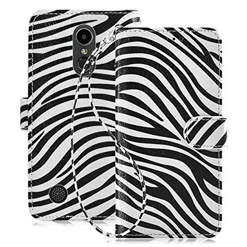 - LG Aristo 3 Case,LG Aristo 2/Tribute Empire/Aristo 2+ Plus/Aristo 3+ Plus/K8+/Phoenix 4/Zone 4/Fortune 2/Rebel 4/K8 2018 Case,Zebra Pattern Case Wallet w Screen Protector Card Holder Wrist Strap.White