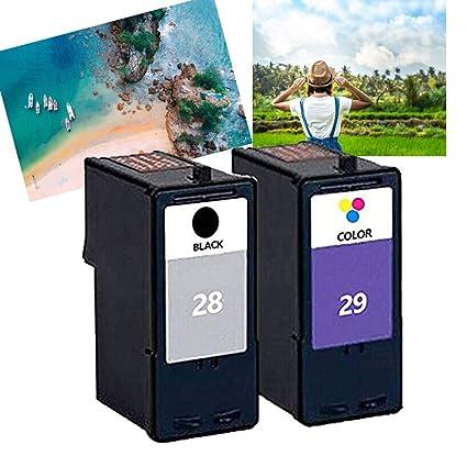 Teng® - Cartuchos de Tinta para Impresora Lexmark 28 29 ...