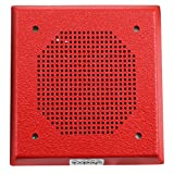 Wheelock Es-Dl1-R Red 24Vdc Fire Alarm Square Grille Speaker