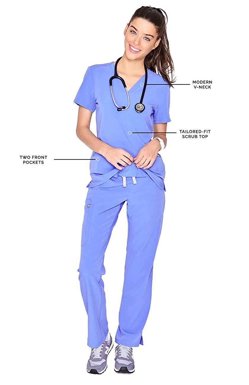 65e3160a39a ... FIGS Casma Three-Pocket Scrub Top for Women – Tailored Fit, Super Soft  Stretch ...