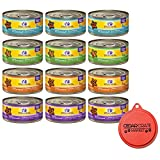 wellness minced cat food - Wellness Minced Grain-Free Wet Cat Food Variety Pack - 4 Flavors (Tuna, Turkey, Chicken, and Turkey & Salmon) - 12 (5.5 Ounce) Cans - 3 of Each Flavor and Can Topper