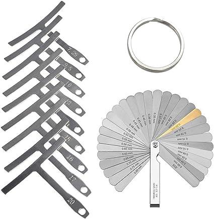 32 Blades Feeler Gauge Stainless Steel Imperial String Action Ruler Gauge Feeler