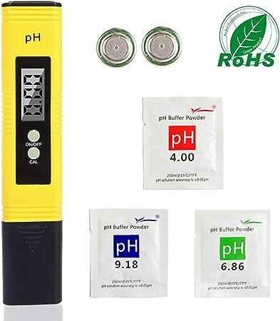 Alivier Testeur num/érique de leau Testeur de pH au Chlore Testeur de qualit/é de leau Kit de Test de Piscine Couleur 2