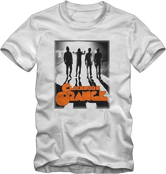 T-Shirt Originale Arancia Meccanica Stanley Kubrick Clockwork Orange Maglia Bordeaux Rosso con cartellino ed Etichetta di originalit/à Maglia Maglietta
