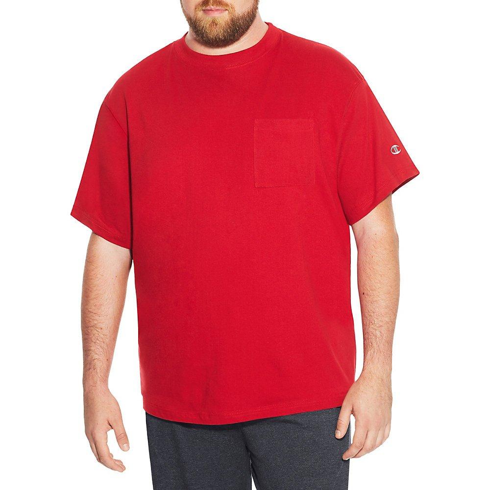 Champion mens Big /& Tall Short Sleeve Pocket Jersey Tee CH310