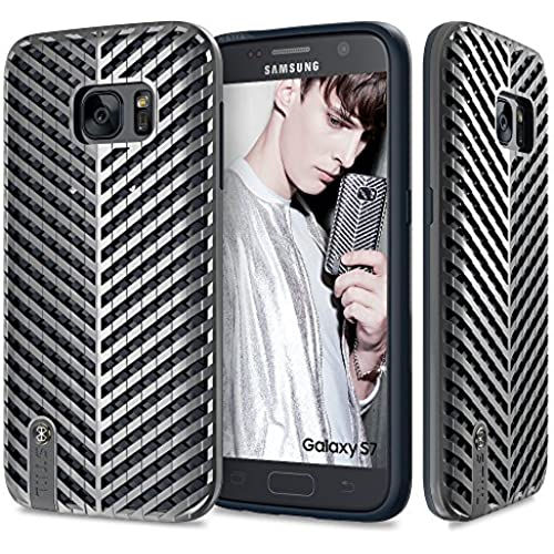 Galaxy S7 Case, Fashion Case STIL [KAISER] [TARGA Series] SILVER / Slim Case / Dual-Layer / Hard Case Sales