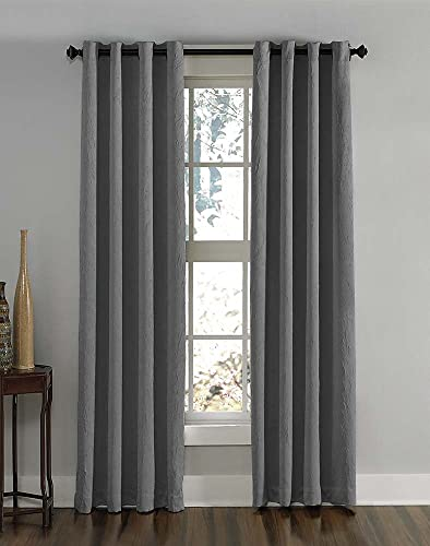 Curtainworks Lenox Grommet Curtain Panel, 50 by 120 , Grey