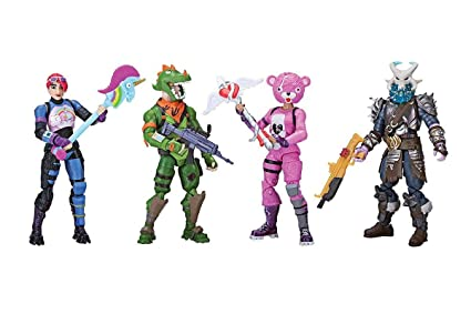 Amazon.com: Fortnite Squad Mode 4 Figura Pack (8 años y más ...