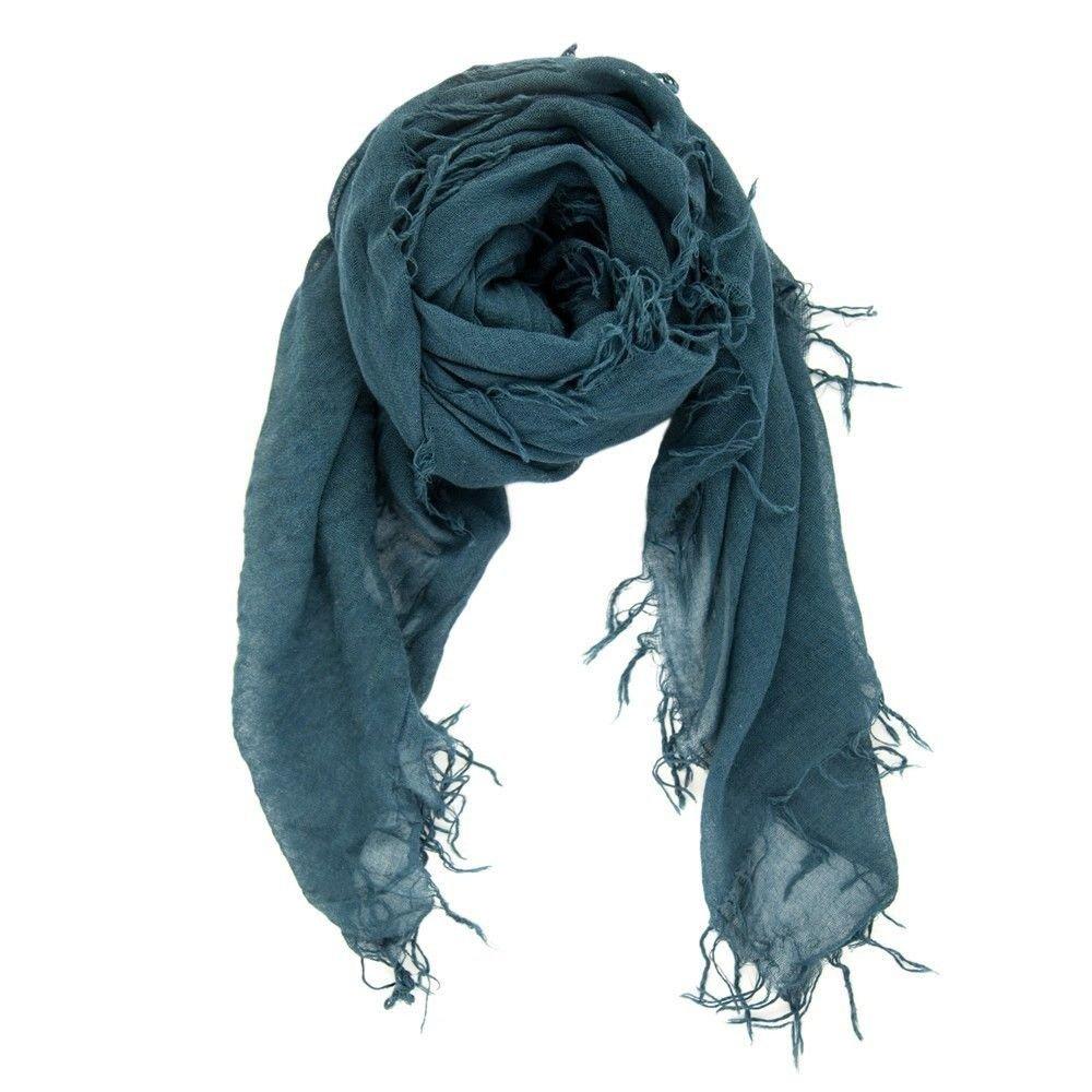 Chan LUU NEW Deep Teal Beautiful Cashmere & Silk Soft Scarf Shawl Wrap BRH-SC-140