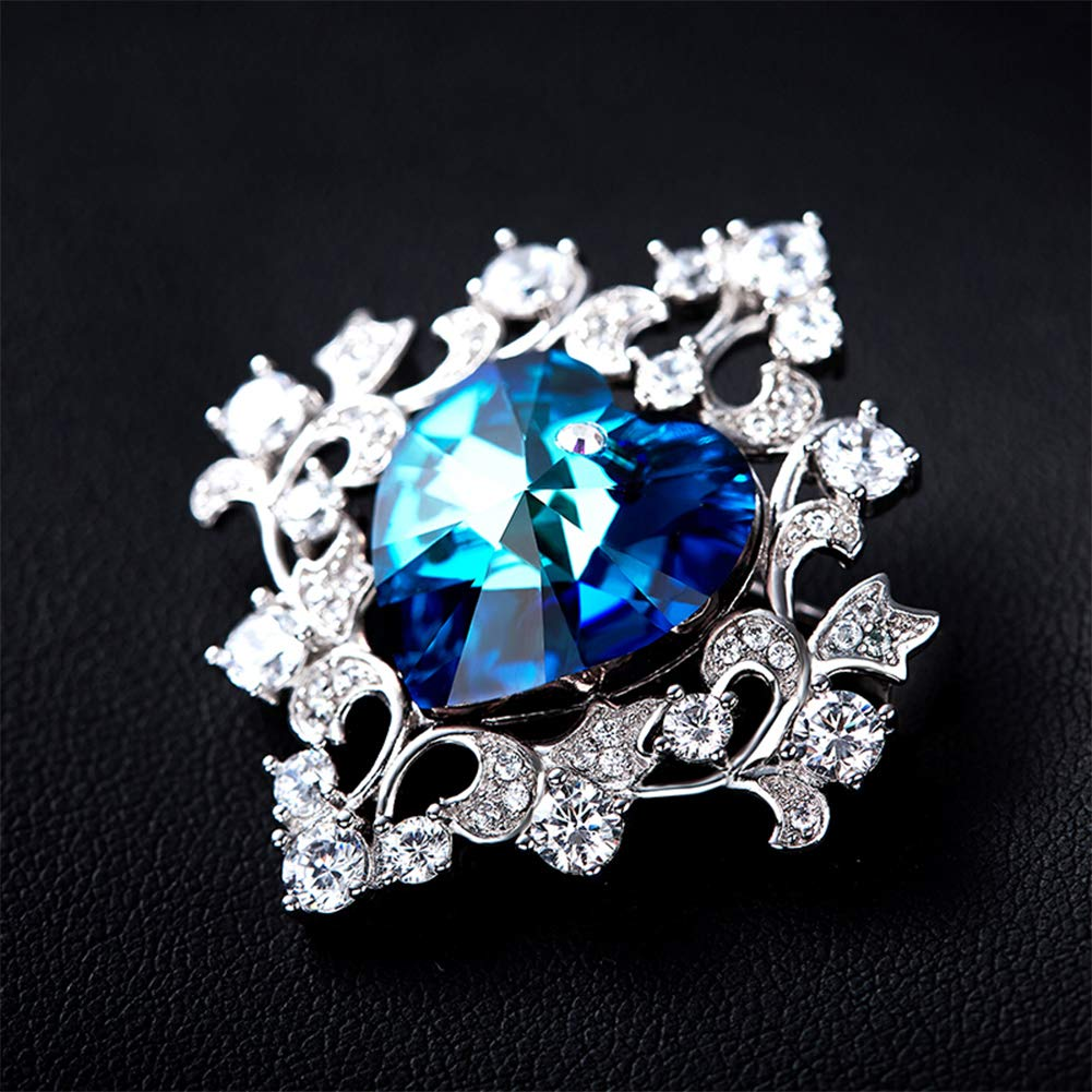 Adatta per Feste Banchetti Natale Yyyew Matrimoni Spilla con Cristalli di Diamante Compleanni e Feste.