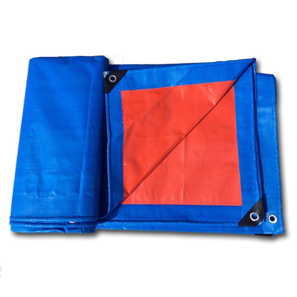 LQQGXL 厚手のキャンバス防水雨布、倉庫用品の塵の布の台車の耐摩耗性、青 防水シート (色 : A, サイズ さいず : 4 x 8m) B07FY34VGH