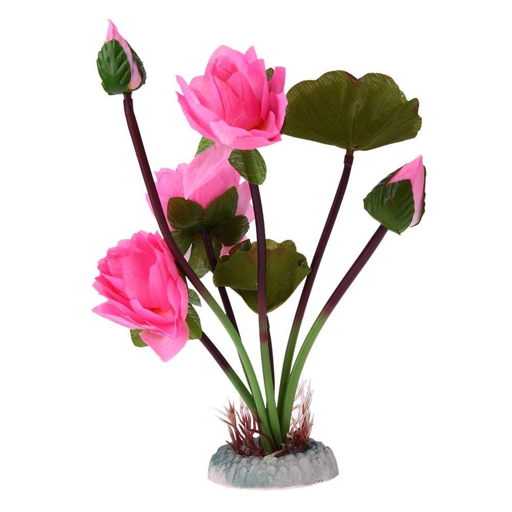 Amazon Aquarium Fish Tank Decoration Artificial Lotus Flower