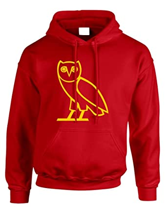 4951f4be5aaf99 Drake NEW Ovo Owl Red Hoodie Sweat YMCMB Young Money Drizzy Lil Wayne Dream  416 at Amazon Men s Clothing store