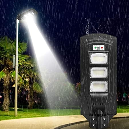 GIGIEroch Luces de la Calle LED de iluminación Vial Panel Solar Farola LED Lámpara Impermeable al Aire Libre del césped del jardín (Color : Negro, tamaño : 60LED): Amazon.es: Hogar