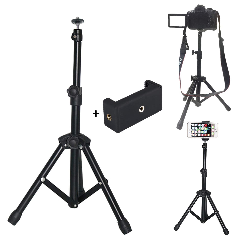 【オープニングセール】 デスク 23.6インチ 三脚スタンドホルダー S8 S9 デジタル一眼レフカメラ用 キャノン ソニー ニコン用 S10 調節可能 回転式 格納式 三脚 スマートフォンマウント iPhone X XS 8 7 6s 6 Plus サムスン S9 S8 S10 Plus モバイル用 B07PPGBK2L, GUTS-CYCLE:5c0f83c0 --- martinemoeykens.com