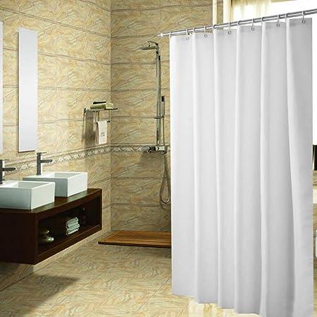 Feidaeu Baño Cortina de Ducha Mamparas de baño Impermeables Color sólido Ecológico Sencillas Cortinas clásicas y Elegantes: Amazon.es: Hogar