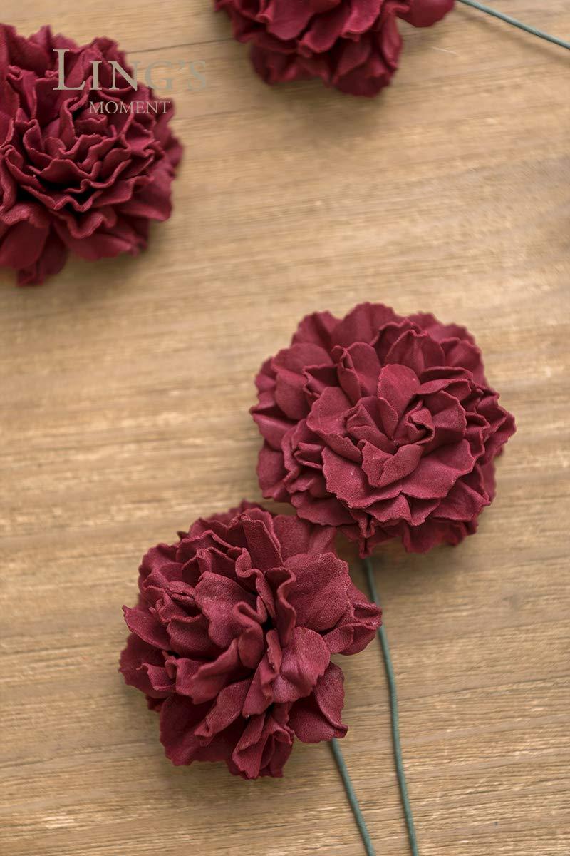 Lings-moment-Artificial-Foam-Carnation-Flowers-for-Wedding-Bouquet-Table-Centerpieces-Decor