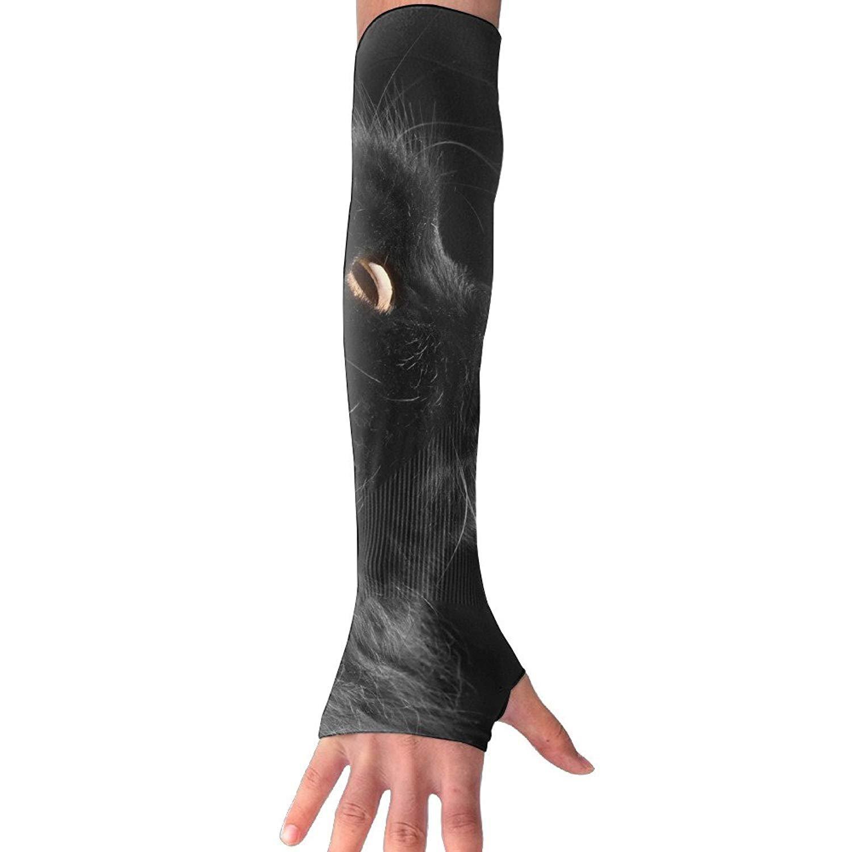 Unisex Black Cat Sense Ice Outdoor Travel Arm Warmer Long Sleeves Glove