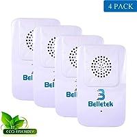 Belletek Pest Control Ultrasonic Repeller Mosquitoes- Safe Children Pets - Quickly Eliminates Flies, Cockroaches, Spiders, Fleas, Mice