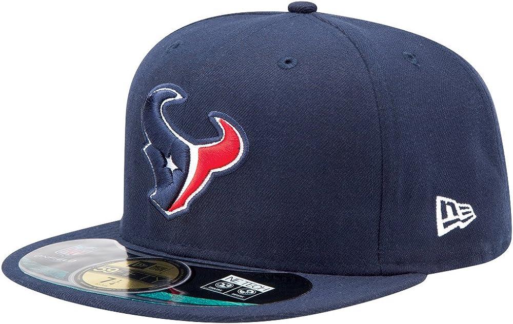Amazon.com : NFL Mens Houston Texans On Field 5950 Navy Game Cap By New Era  : Sports Fan Baseball Caps : Clothing